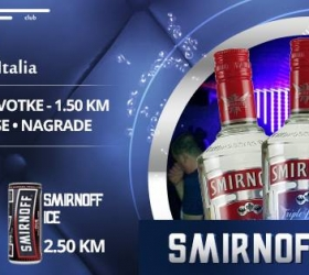 Elitte Bella Italia: Smirnoff Party at club